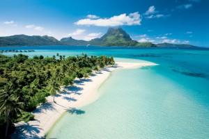 Enjoy time on our private beach in Bora Bora.