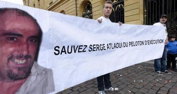 Soutien serge atlaoui avant le match psg metz for Le derriere metz