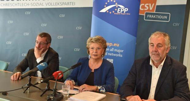 La rentrée parlementaire de Frank Engel, Viviane Reding et Georges Bach (de g. à dr.) s'annonce chargée. (Photo : LQ)