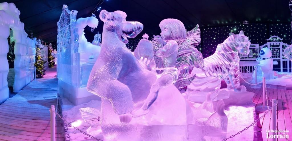 marché de noel metz 2018 glace disney Noël à Metz : tout l'univers Disney sculpté dans la glace marché de noel metz 2018 glace disney
