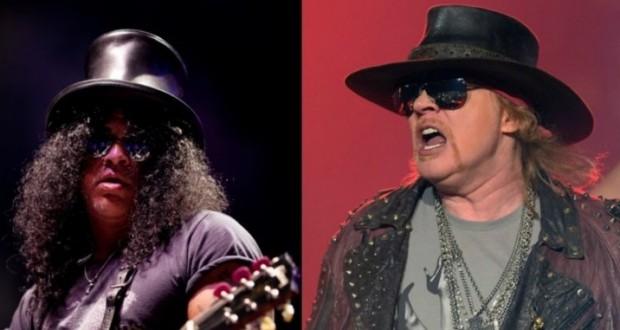 Slash et Axl Rose réunis sur scène, vingt ans que les fans attendent ! (Photo DR)