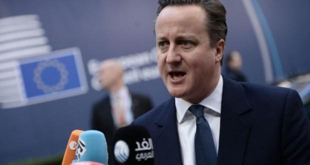 Le Premier ministre David Cameron le 19 février 2016 à Bruxelles. (Photo : AFP)
