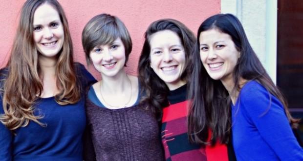 Saskia, Kasia, Rebecca et Caroline font partie de l'équipe fondatrice de la coopérative OUNI. (photo DR / ouni.lu)