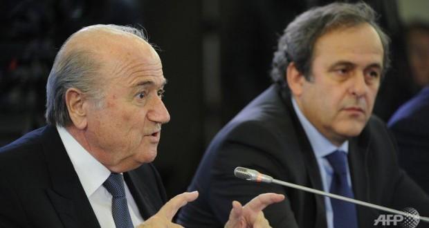 Les suspensions de Joseph Blatter et Michel Platini ont été réduites de huit à six ans en appel par la commission des recours de la Fifa. (photo AFP)
