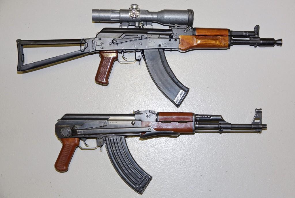 Armes saisies et stockées par la police. (photo JC Ernst)