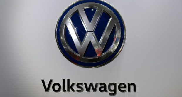 Logo Volkswagen le 3 février 2016. (Photo : AFP)