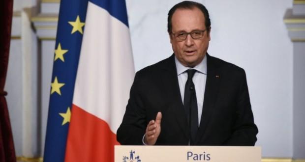 Le président François Hollande lors d'un discours à l'Elysée le 12 mars 2016. (Photo : AFP)
