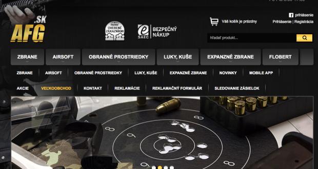 Le site d'AFG Security propose toute une panoplie de fusils d'assaut tels ces VZ 58 de fabrication tchécoslovaque. Ce site internet est accessible à tous, ne faisant pas partie de ce que l'on appelle le «dark net». (Capture d'écran : AFG.sk)