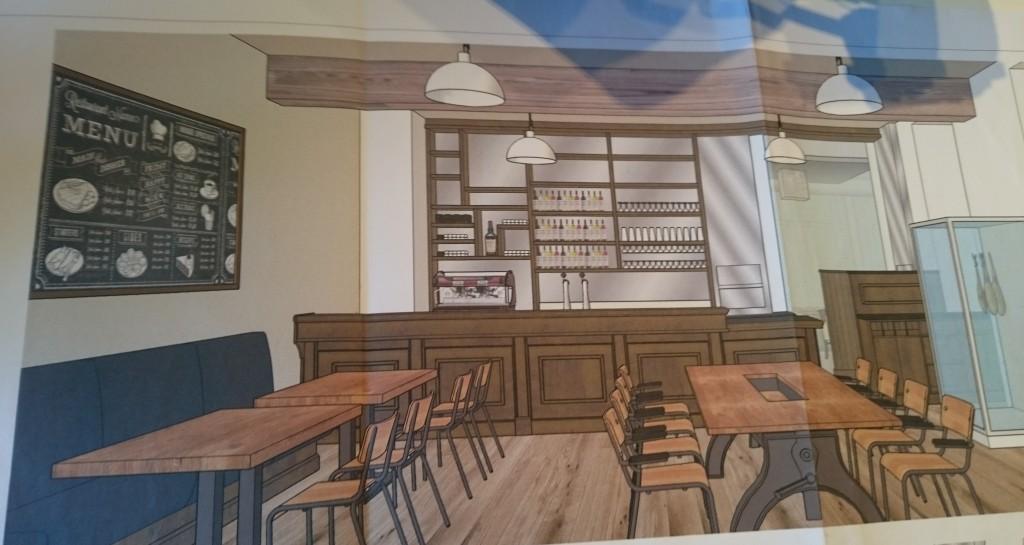 Dans le restaurant, une première salle sera décorée à la façon d'une ancienne salle de classe.