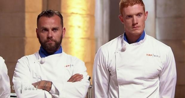 Associé à Franck (à gauche), Thomas s'est qualifié pour la 8e semaine du concours. (caputre vidéo M6)