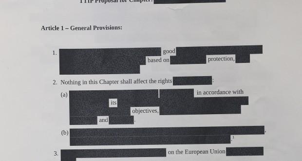La version du TTIP actuellement accessible au public.