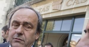 Michel Platini a joué son va-tout devant le TAS, fin avril. (Photo AP)