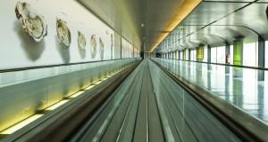 Le terminal B, en cours de rénovation, devrait accueillir ses premiers passagers début juillet 2017. (Photo : Tania Feller)
