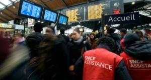 La gare Saint-Lazare à Paris le 26 avril 2016 lors d'une grève à la SNCF. (Photo : AFP)
