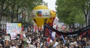 Manifestation contre la loi travail, le 26 mai 2016 à Paris. (Photo : AFP)