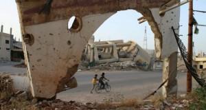 La ville de Daraa dans le sud de la Syrie, le 14 mai 2016, détruite par les affrontements et les bombardements. (Photo : AFP)