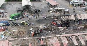 A Tartous, la série d'attentats a commencé vers 9h lorsque deux kamikazes se sont fait exploser à l'intérieur de la gare routière, suivis de l'explosion d'une voiture piégée à l'extérieur. (photo AFP)