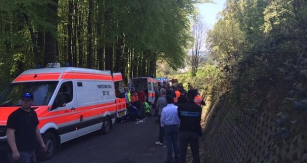 L'accident implique de nombreux coureurs. (photo Twitter)