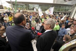 Les agriculteurs avaient déjà manifesté le 15 septembre dernier, au Kirchberg. (photo archives LQ / Alain Rischard)
