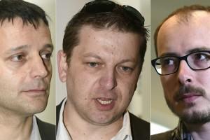 Édouard Perrin, Raphaël Halet et Antoine Deltour vont être fixés sur leur sort. (Photos AFP)