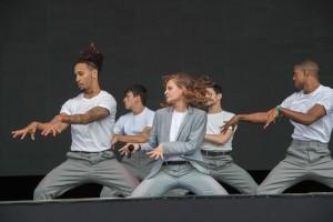 Christine and the Queens était au début du mois sur la scène du Governors Ball Music Festival de New York. (photo AFP)