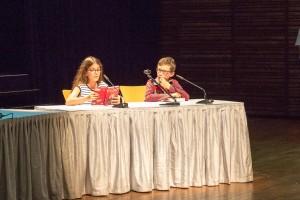Les 20 finalistes du concours de lecture à voix haute ont impressionné, hier, le public de la Kulturhaus de Mersch. (photo Martine Feller)