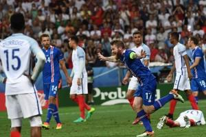 Incroyable Islande qui se qualifie pour les quarts de finale de l'Euro et sort le favori anglais ! (Photo AFP)