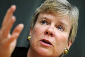 Rose Gottemoeller est la première femme à occuper ce poste de commandement à l'Otan. (Photo AFP)