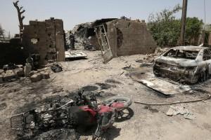 Les jihadistes n'ont pas eu d'autre choix que de fuir Fallouja en convois sur des axes totalement à découvert, devenant des cibles faciles. (Photo AFP)