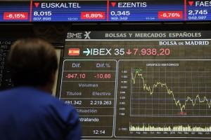 Vendredi 24 juin 2016 à la Bourse de Madrid. (photo AFP)
