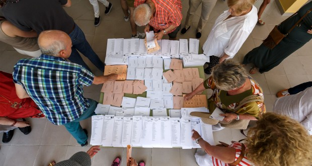 Bureau de vote de Moncloa-Aravaca, à Madird. (photo AFP)