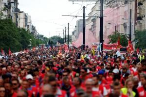 Cette manifestation s'est déroulée sous haute surveillance. (photo AFP)