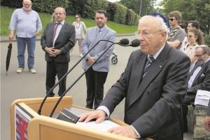 Le président du Consistoire israélite de Luxembourg, Claude Marx, a pris la parole lors de la cérémonie. (photo Alain Rischard)