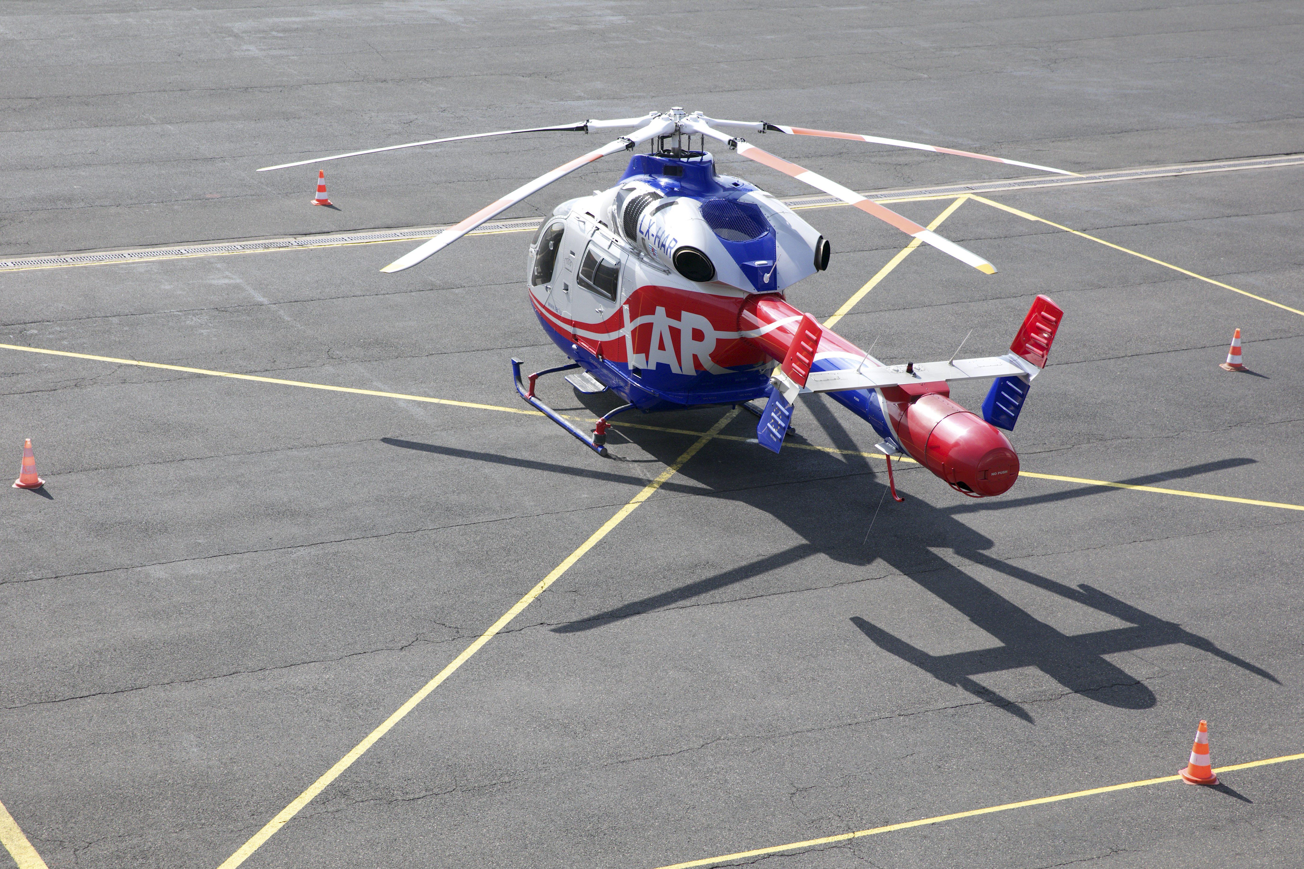 Appel a été fait à l'hélicoptère Luxembourg Air Rescue pour cet accident. (photo archives LQ)