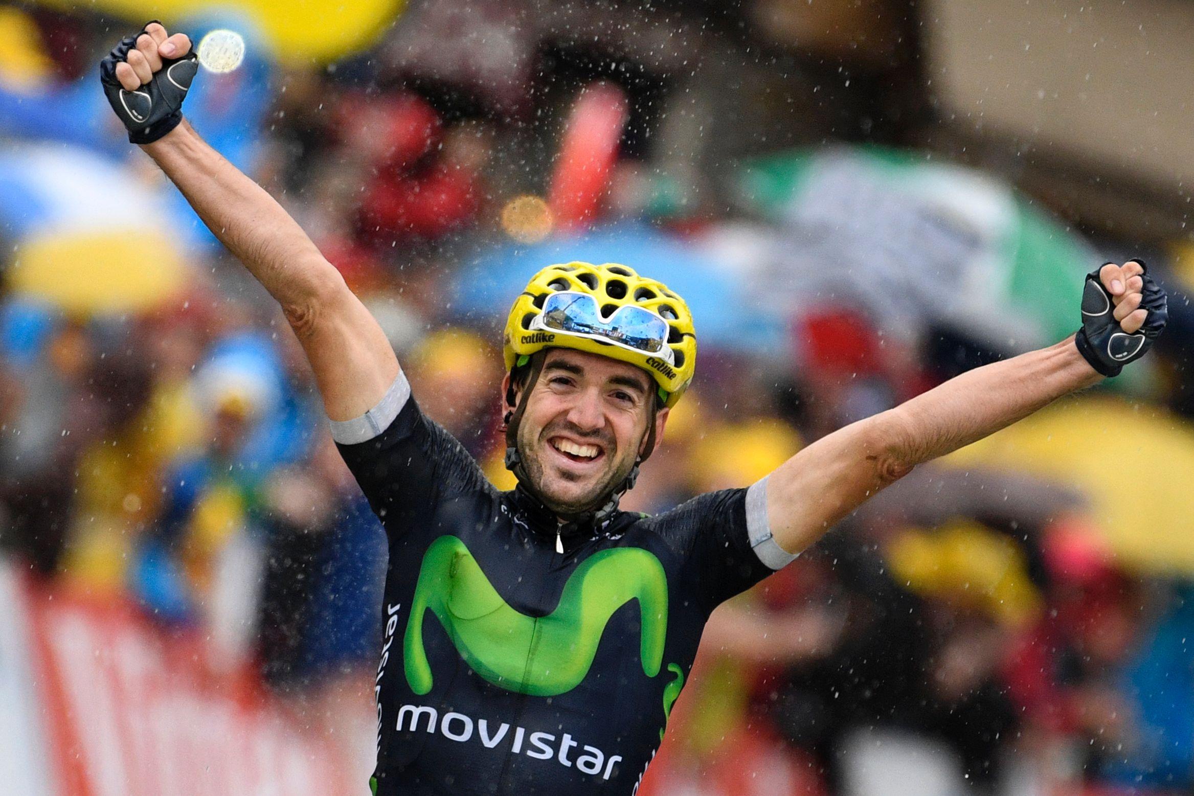 Première victoire d'étape espagnole sur le Tour 2016. (photo AFP)