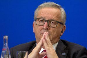 Jean-Claude Juncker au sommet entre l'UE et la Chine à Pékin, le 13 juillet dernier. (photo AFP)