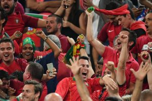 Il n'y a pas qu'à Marseille que les supporters ont fêté la victoire du Portugal. (Photo AFP)