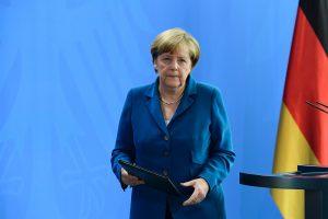 La dirigeante conservatrice a rendu hommage aux Munichois, notamment à ceux qui ont ouvert leurs portes aux personnes errantes dans la ville après que la ville s'est retrouvée en quasi-état de siège. (photo AFP)