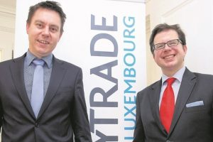 Stéphane Jodin, administrateur délégué, et Thibault de Barsy, directeur général de Keytrade Luxembourg. (photo archives LQ)