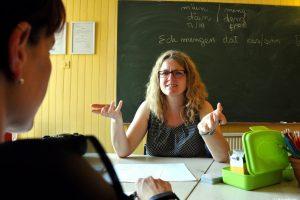 C'est à Sierck que Nadia Zimmer enseigne le luxembourgeois et l'allemand. (photo Armand Flohr / RL)