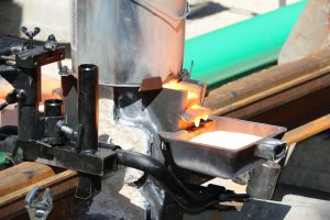 Ces rails proviennent de l'usine British Steel de Hayange (ancien Tata Steel), en Lorraine. (Photos Luxtram)