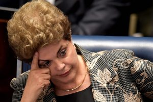 Les sénateurs voteront mercredi à Brasilia la destitution de Dilma Rousseff pour maquillage des comptes publics. (photo AFP)