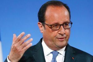 """""""Les discussions en ce moment-même sur le traité entre l'Europe et les Etats Unis ne pourront pas aboutir à un accord d'ici la fin de l'année"""", a déclaré le chef d'Etat. (photo AFP)"""
