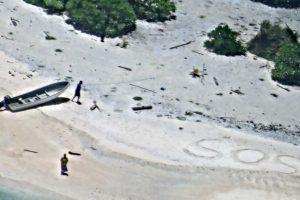 Le couple était coincé sur une île déserte au milieu du Pacifique. (Photo AFP)
