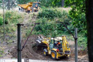 Les fouilles menées près de Walbrzych, à l'aide de géoradars, foreuses et bulldozers, n'ont rien donné. (Photo AFP)