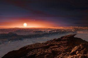 """Baptisée Proxima b, cette planète vraisemblablement rocheuse, dotée d'une masse proche de celle de la Terre, est située dans une zone dite """"habitable"""" ou """"tempérée"""", permettant en théorie la présence d'eau liquide à la surface. (illustrations AFP)"""