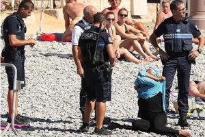 Parce qu'elle refusait de changer de tenue pour se baigner, la femme a reçu une amende puis a quitté la plage. Photo : dr
