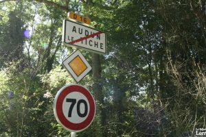Vers Aumetz, la signalétique existe. Le retour est plus contraignant. (photo RL)