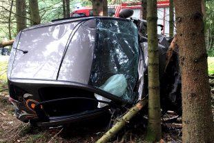 La conductrice a dû être héliportée. (photos police grand-ducale)