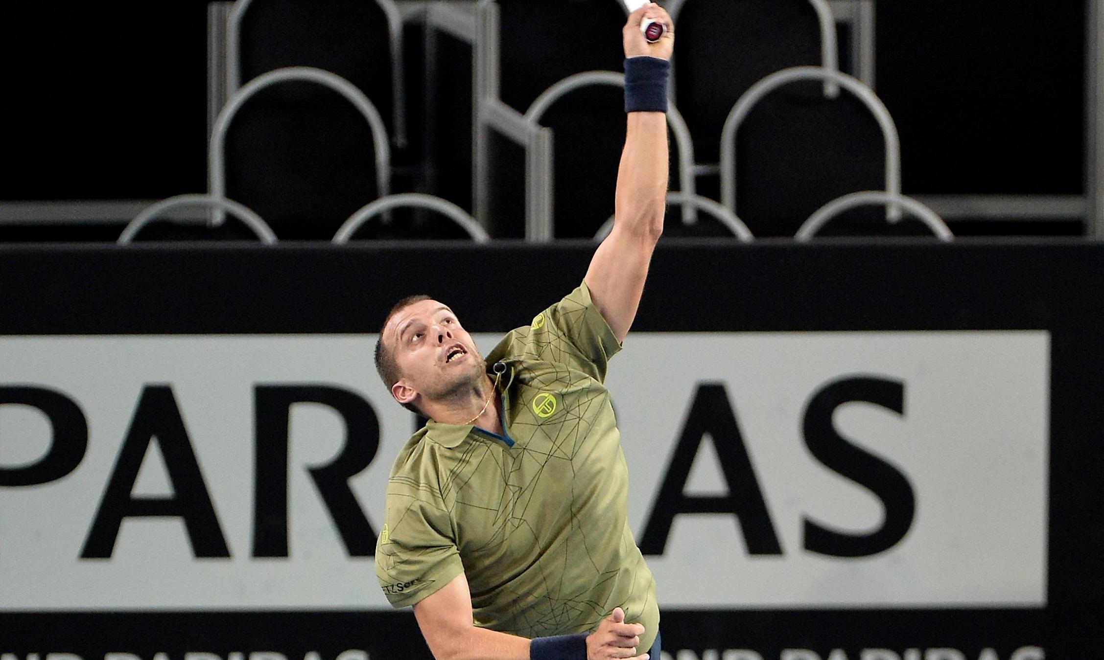 Gilles Muller s'est montré très solide sur son service. (Photo : Julien Garroy)